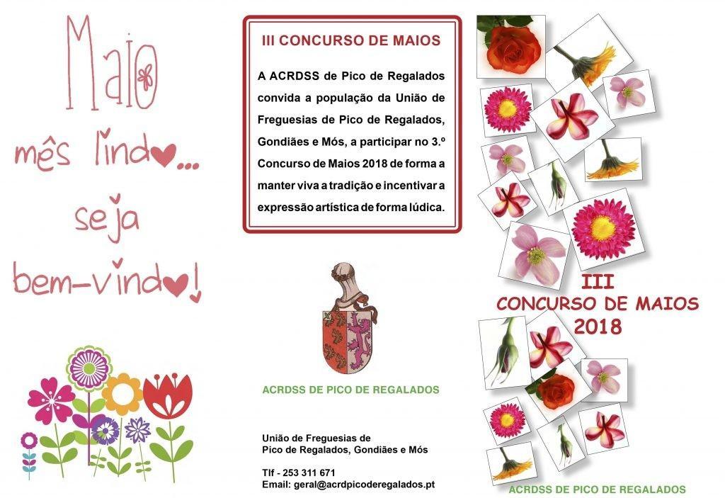 DIA 1 DE MAIOIII Concurso de Maios na União de Freguesias de Pico de Regalados, Gondiães e Mós