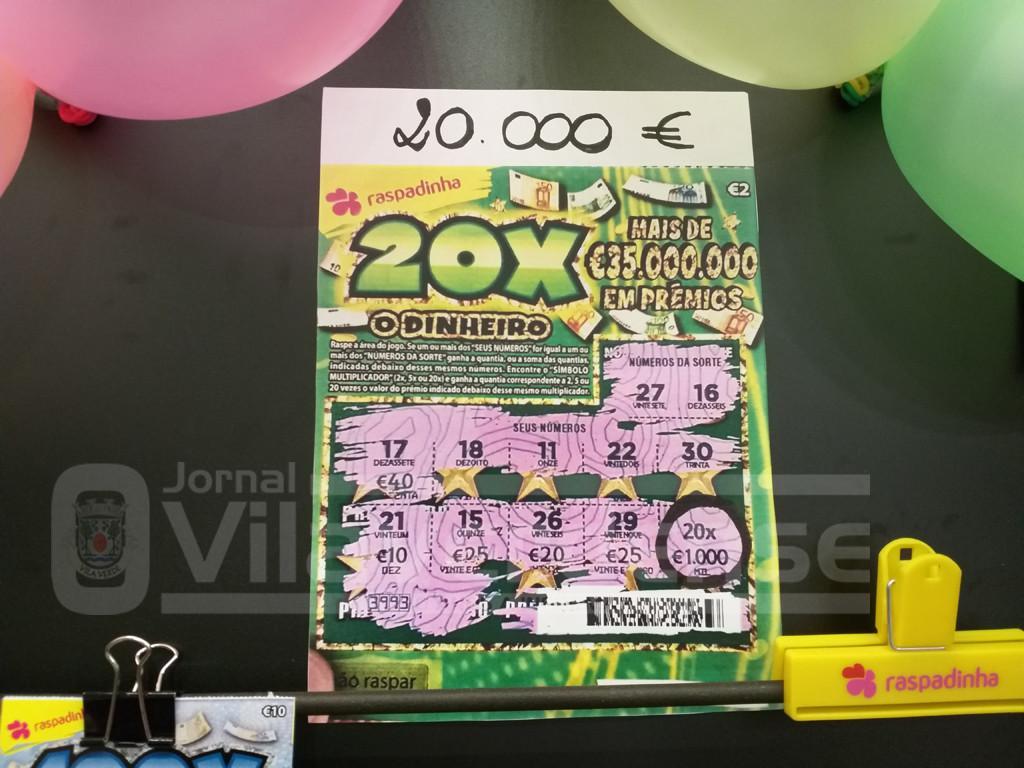 SORTERaspadinha dá 20 mil euros no quiosque do Intermarché de Prado