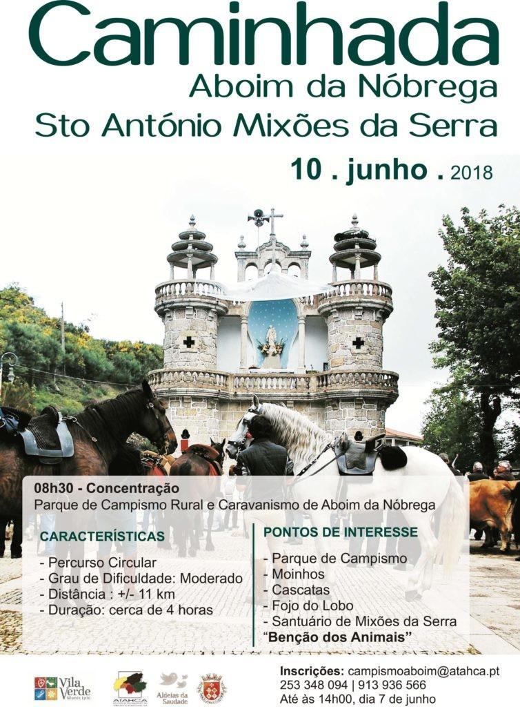 DIA 10 DE JUNHOCaminhada por Sto António de Mixões da Serra no próximo domingo