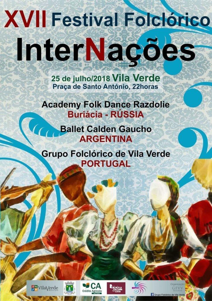 VILA VERDE - XVII Festival Folclórico InterNações esta noite na Praça de Sto António