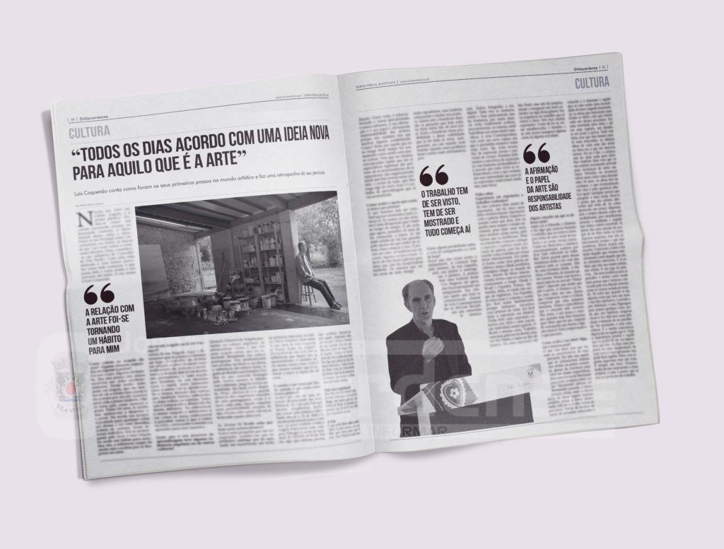 EDIÇÃO IMPRESSA - Viagem pela vida e obra de Luís Coquenão