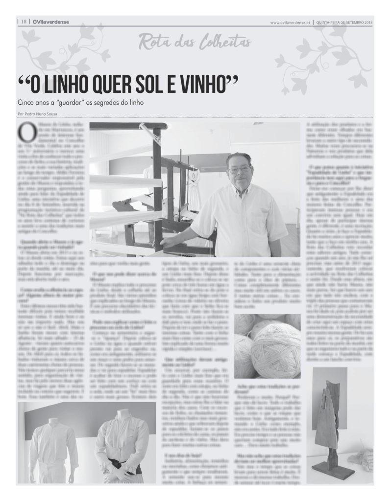 """EDIÇÃO IMPRESSA - Entrevista a Abílio Ferreira, o """"guardião"""" do Museu do Linho"""