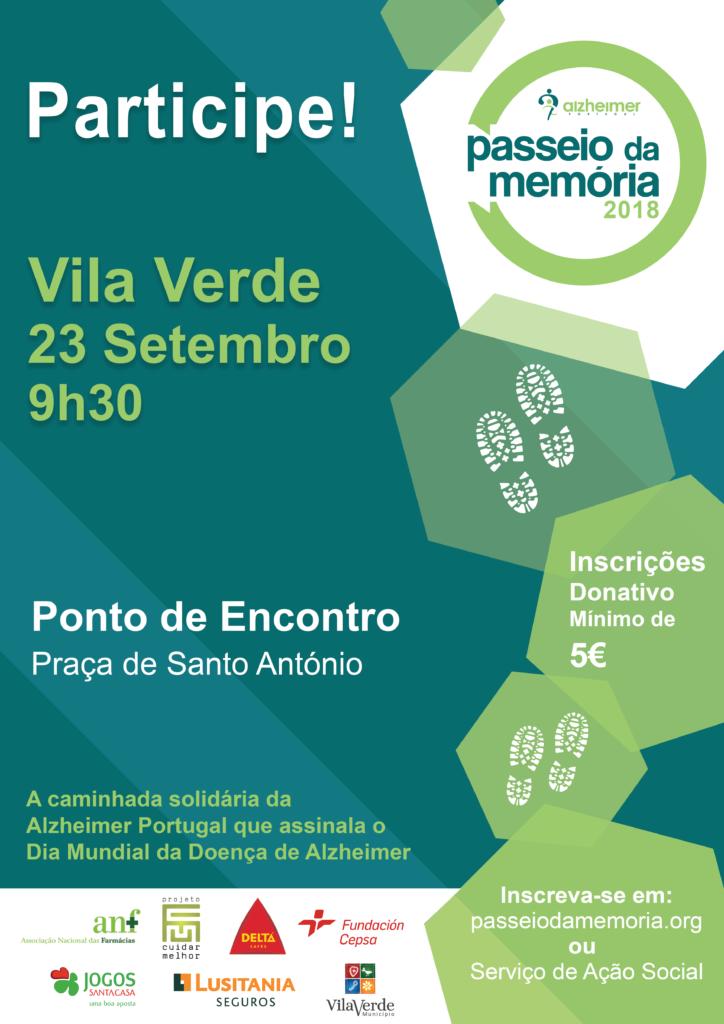NO DIA 23 DE SETEMBRO - Alzheimer Portugal vai organizar Caminhada Solidária