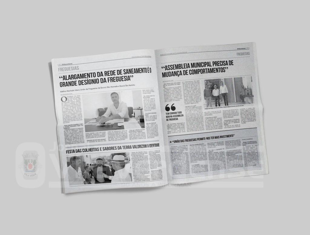 EDIÇÃO IMPRESSA - Autarca Adelino Machado em entrevista. Saneamento é o desígnio da freguesia