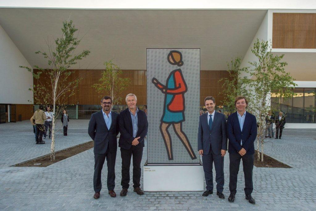 CULTURA –  Obra de Julian Opie recebe visitantes do Altice Forum Braga