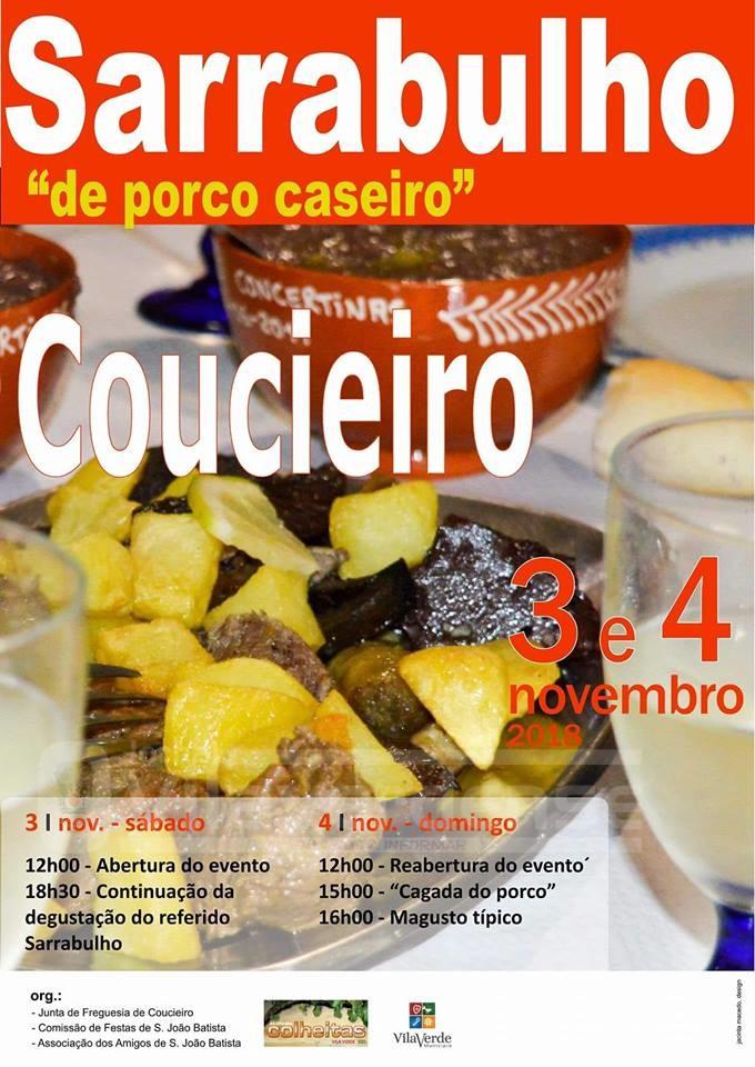 NA ROTA DAS COLHEITAS - Sarrabulho de porco caseiro nos dias 3 e 4 de Novembro em Coucieiro
