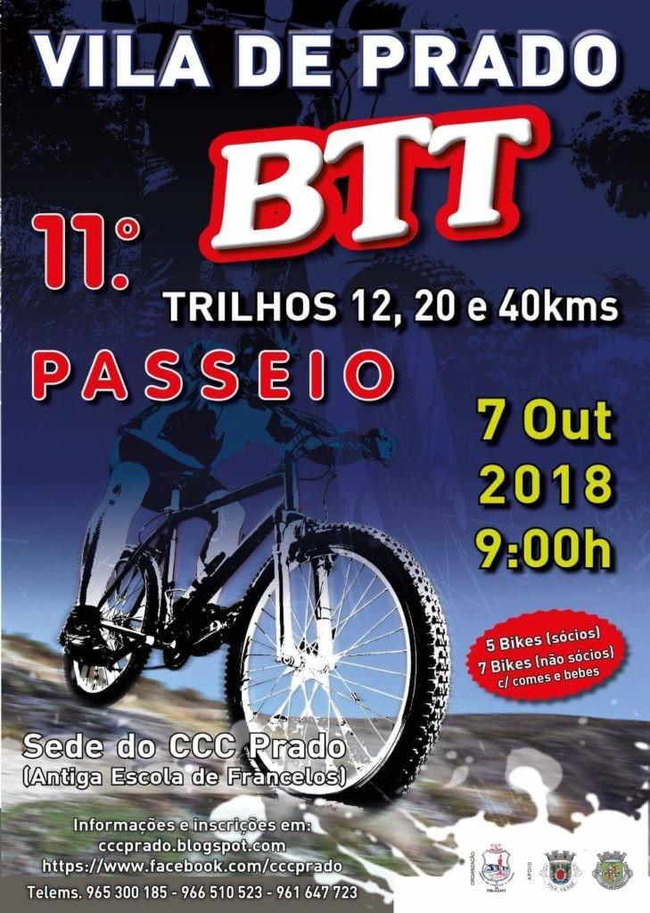 VILA DE PRADO - 11º Passeio de BTT no dia 7 de Outubro