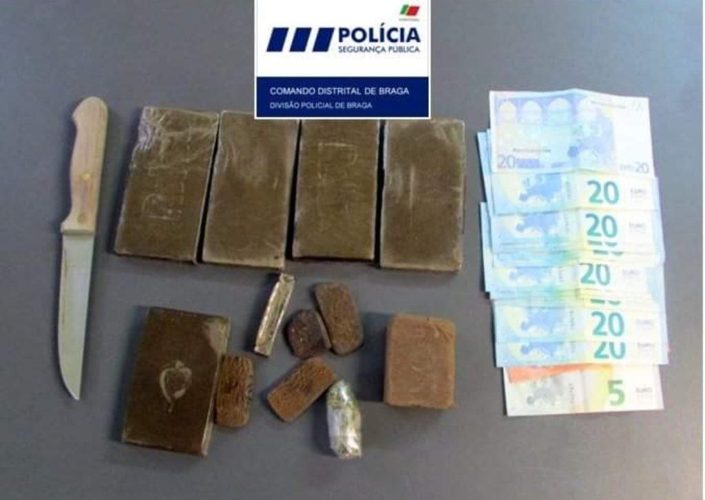 CRIME –  PSP detém dois homens por tráfico de droga em café de Braga