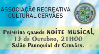 CERVÃES –  Associação Recreativa e Cultural promove Noite Musical