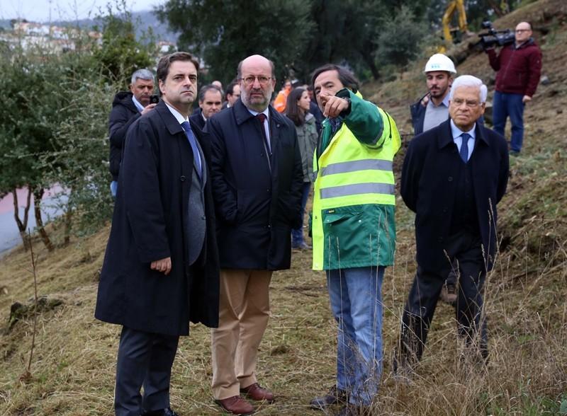 BRAGA -Ministro do Ambiente visita trabalhos de arborização do Monte Pico