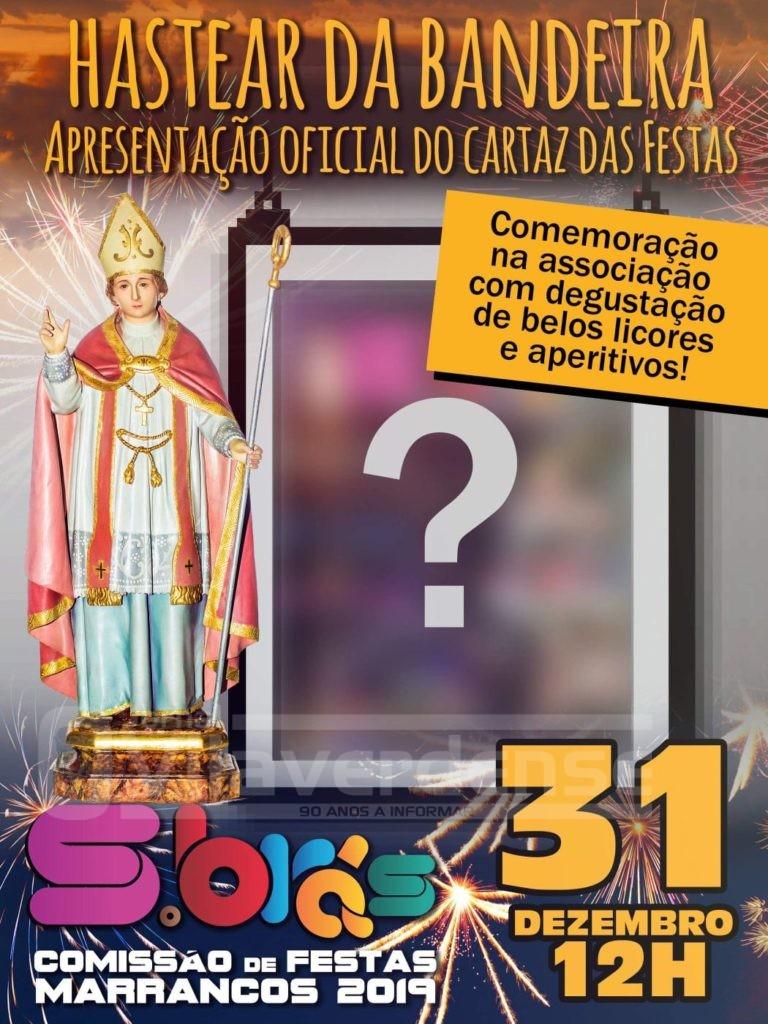 MARRANCOS (Vila Verde): Comissão de Festas de S. Brás hasteia bandeira, apresenta cartaz e promove convívio de fim-de-ano