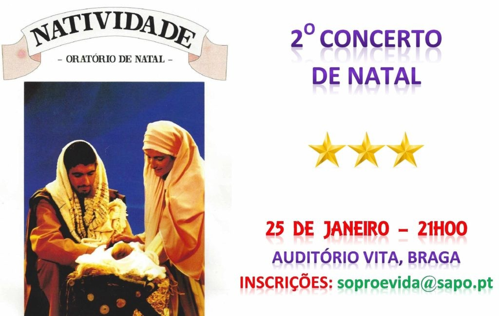 "BRAGA –  Auditório Vita recebe novo ""Concerto Orante"" de Natal"