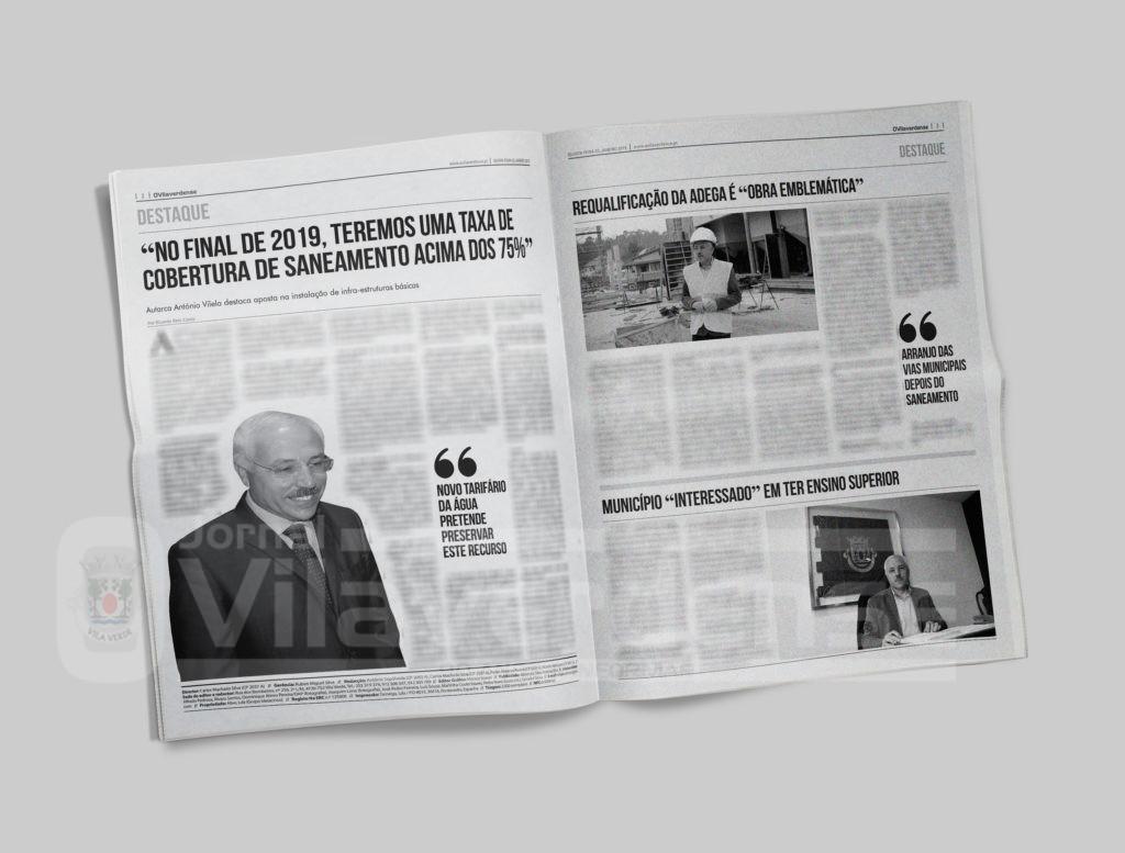 EDIÇÃO IMPRESSA - Em entrevista, António Vilela destaca aposta na instalação de infra-estruturas básicas