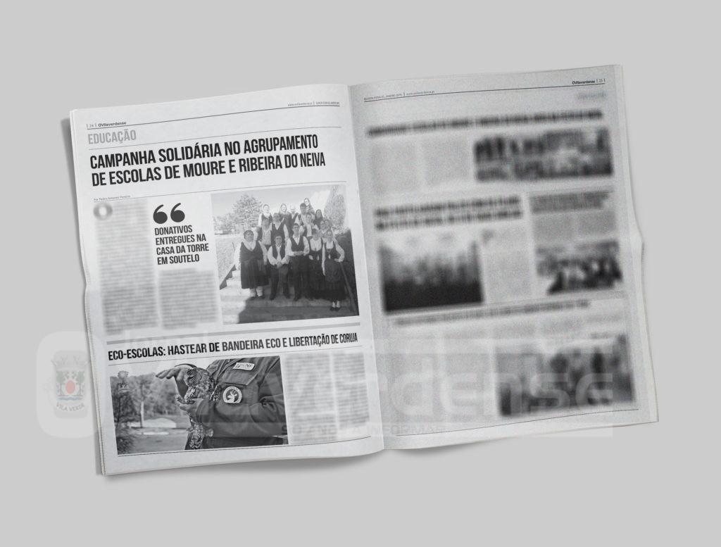 EDIÇÃO IMPRESSA – Campanha solidária no Agrupamento de Escolas de Moure e Ribeira do Neiva
