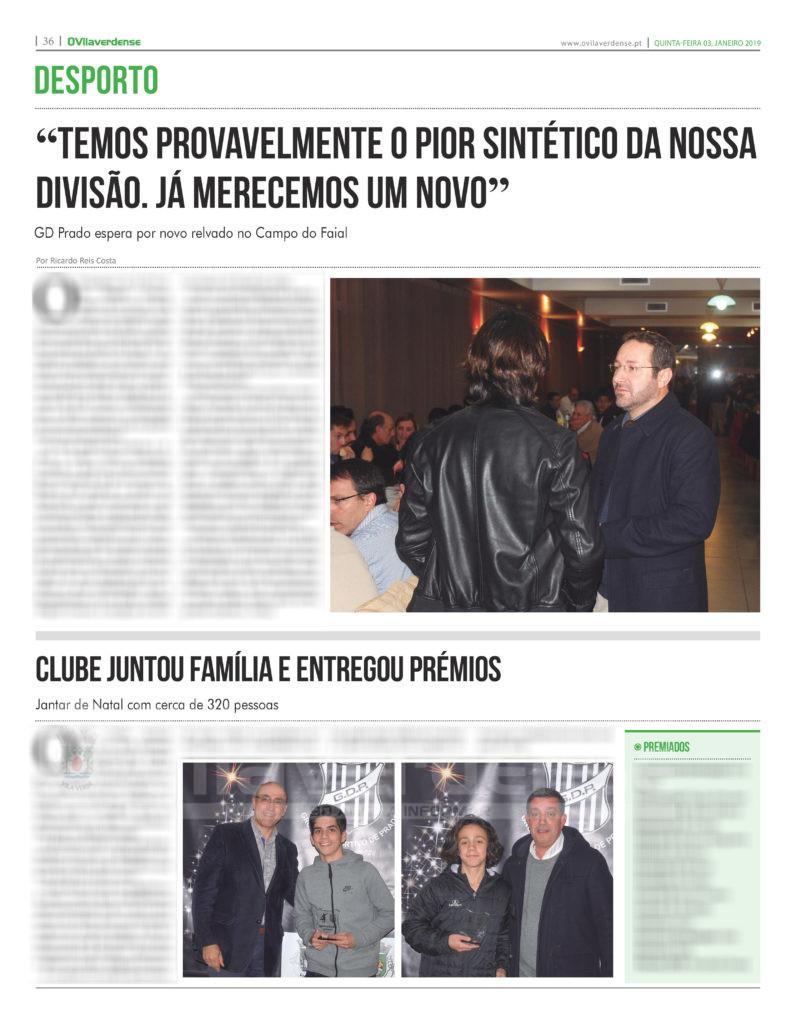 EDIÇÃO IMPRESSA – GD Prado espera por novo relvado no Campo do Faial