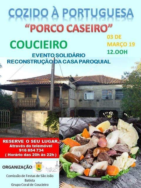 VILA VERDE - Cozido à Portuguesa de Porco Caseiro dia 3 de Março em Coucieiro