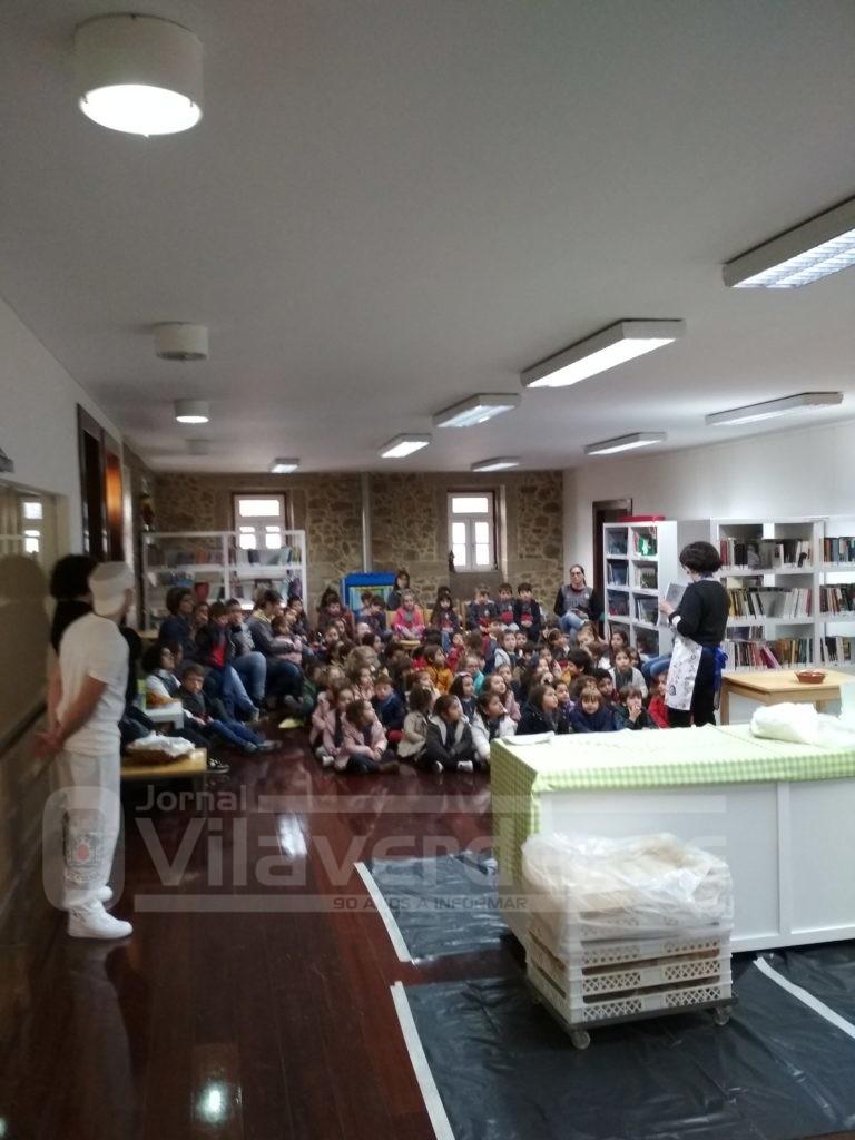 VILA DE PRADO - Crianças aprenderam a fazer pão na Biblioteca Comendador Sousa Lima