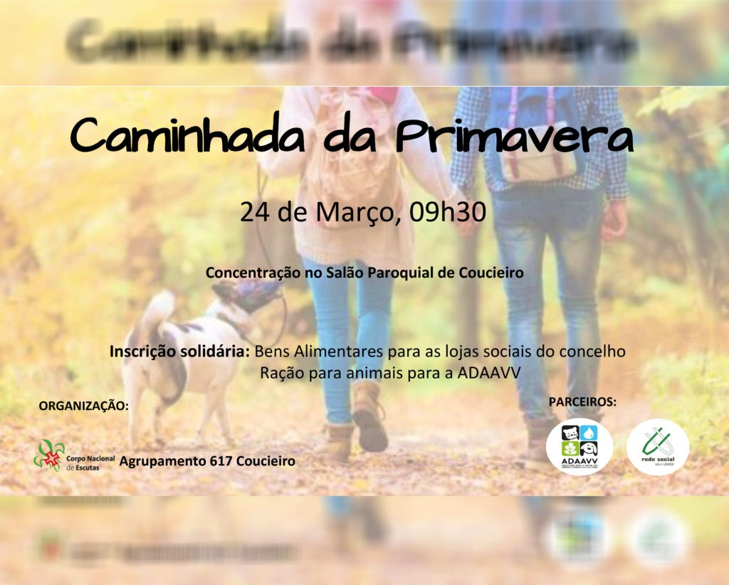 COUCIEIRO - Escuteiros promovem caminhada solidária no domingo