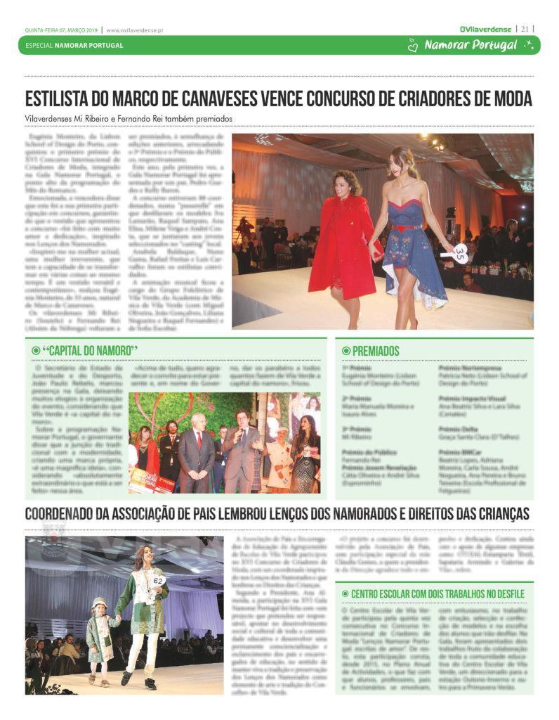 EDIÇÃO IMPRESSA –  Estilista do Marco de Canaveses vence Concurso de Criadores de Moda
