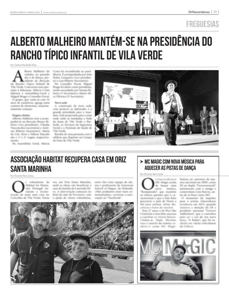 EDIÇÃO IMPRESSA –  Alberto Malheiro mantém presidência do Rancho Típico Infantil de Vila Verde