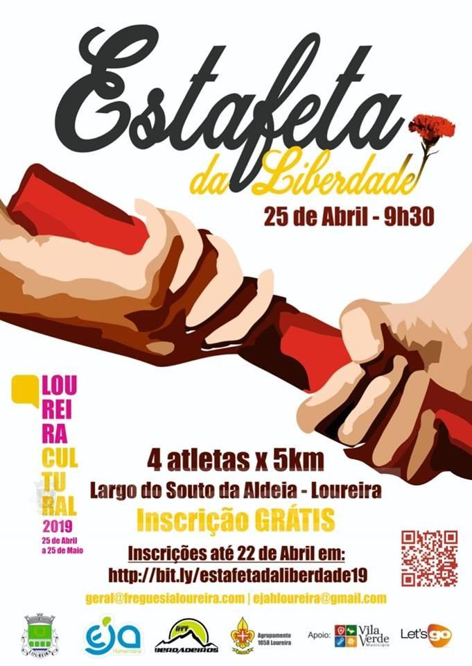 """LOUREIRA (Vila Verde):""""Estafeta Cultural"""" agendada para o dia 25 de Abril (INSCRIÇÕES)"""