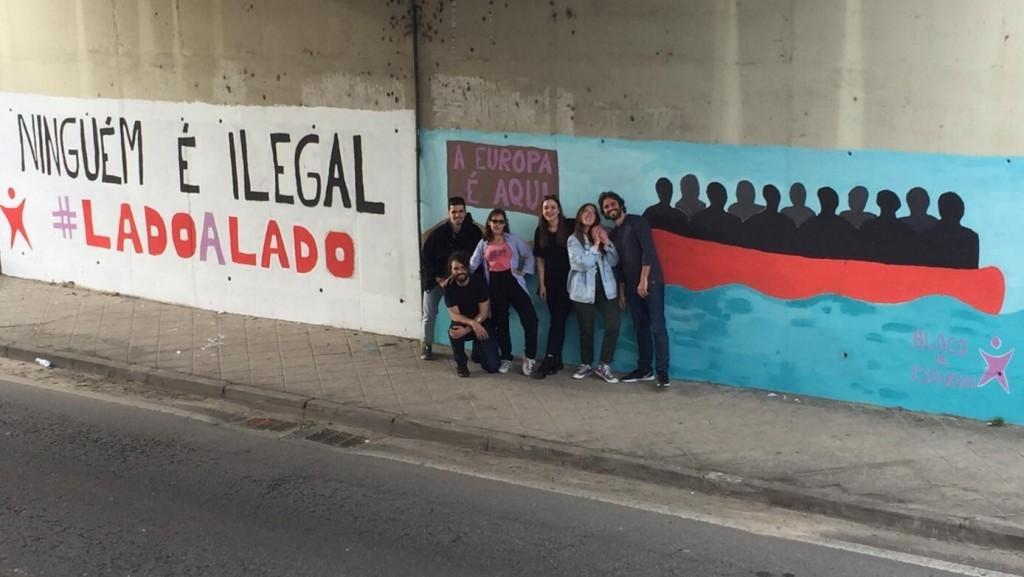 BRAGA – Bloco de Esquerda de Braga pinta mural pelos Direitos Humanos