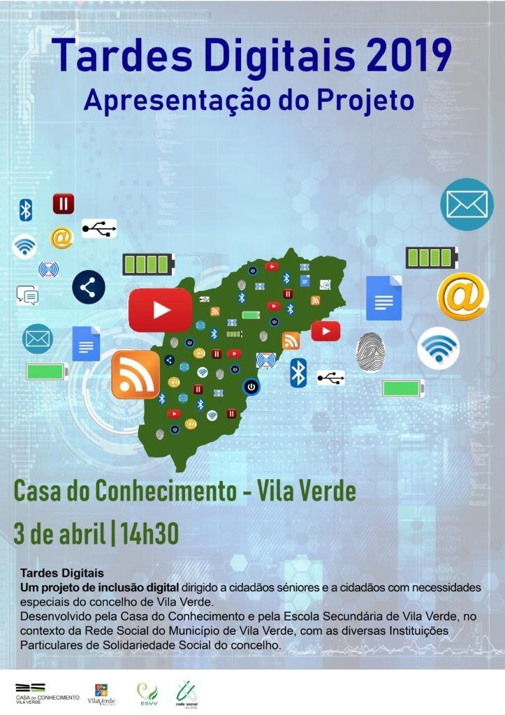 """VILA VERDE - Projecto """"Tarde Digitais"""" inaugurado amanhã na Casa do Conhecimento"""