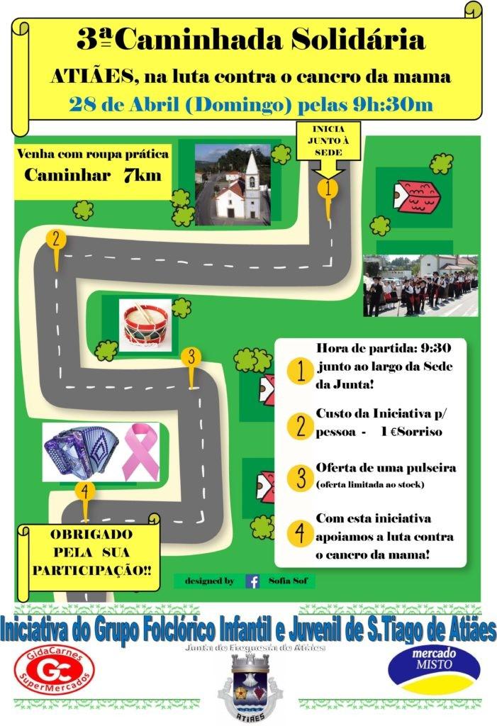 ATIÃES - Caminhada Solidária contra o cancro da mama dia 28 de Abril