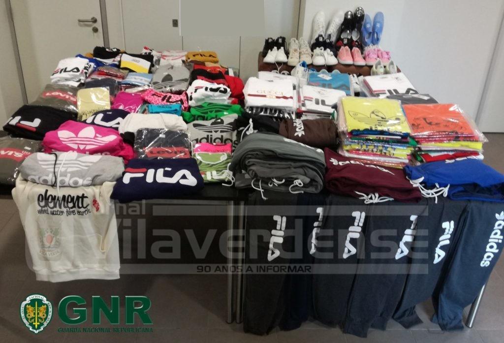 CRIME (Vila Verde):GNR apreendeu 453 artigos contrafeitos na feira semanal de Vila Verde