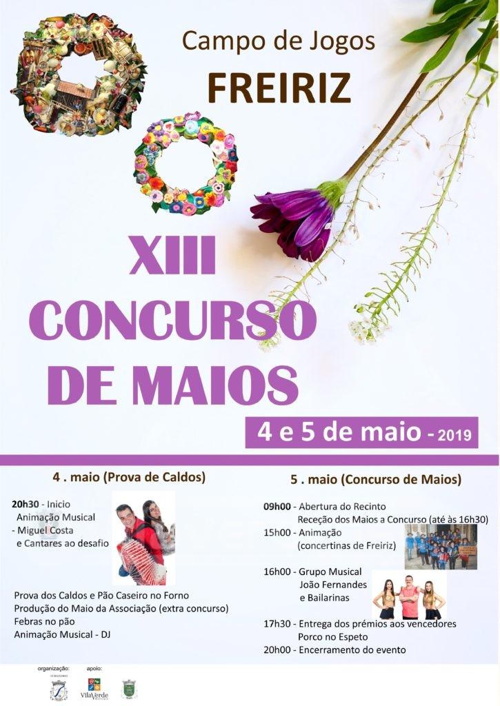 VILA VERDE - XIII Concurso de Maios de Freiriz este fim-de-semana