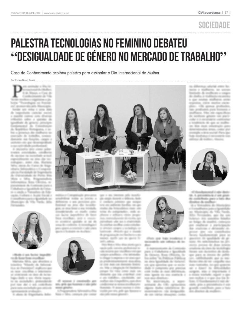 """EDIÇÃO IMPRESSA –  """"Tecnologias no Feminino"""" debateu «desigualdade de género no mercado de trabalho»"""