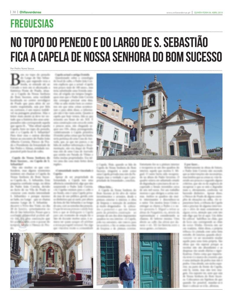 EDIÇÃO IMPRESSA – No topo do penedo e do Largo de S. Sebastião fica a Capela de Nossa Senhora do Bom Sucesso