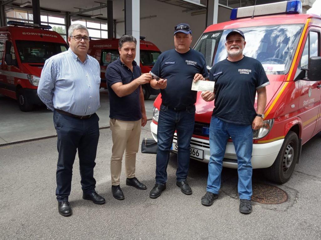 VILA VERDE - Grupo de Geminação de Lohmar (Alemanha) ofereceu viatura aos Bombeiros de Vila Verde