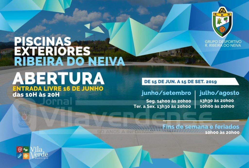 VILA VERDE - Piscinas Municipais da Ribeira do Neiva abrem este sábado
