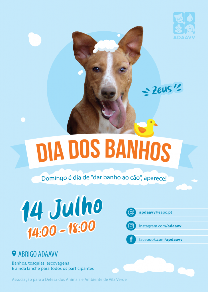 "VILA VERDE - ADAAVV promove ""Dia dos Banhos"" este domingo"