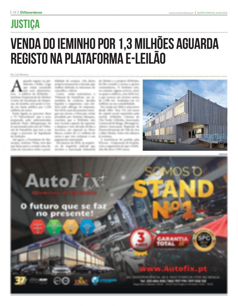 EDIÇÃO IMPRESSA – Venda do IEMinho por 1,3 milhões aguarda registo na plataforma e-leilão