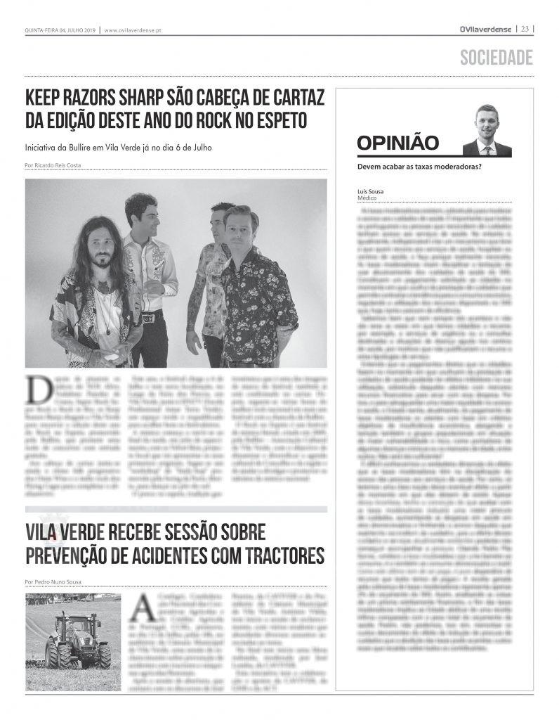 EDIÇÃO IMPRESSA – Keep Razors Sharp são cabeça de cartaz do Rock no Espeto