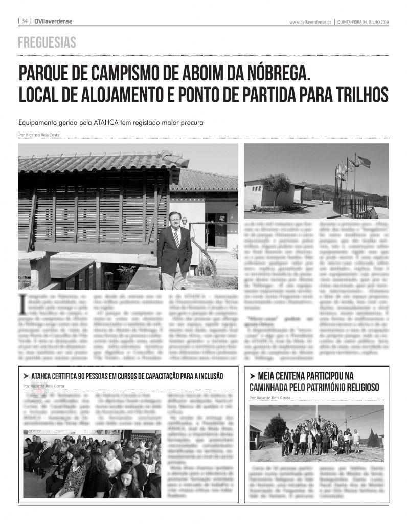 EDIÇÃO IMPRESSA -Parque de campismo de Aboim da Nóbrega. Local de alojamento e ponto de partida para trilhos