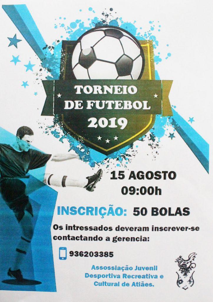 DESPORTO E LAZER - Torneio de Futebol em Atiães no dia 15 de Agosto