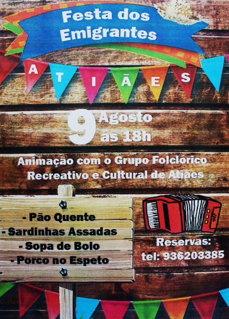 """VILA VERDE - """"Festa dos Emigrantes"""" em Atiães no dia 9 de Agosto"""