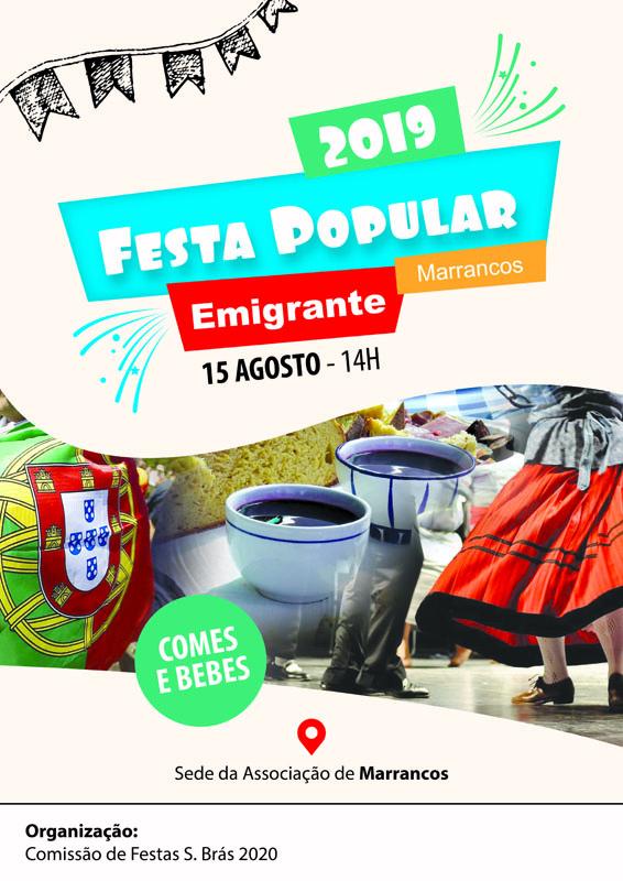 VILA VERDE – Dia 15 há Festa Popular em Marrancos