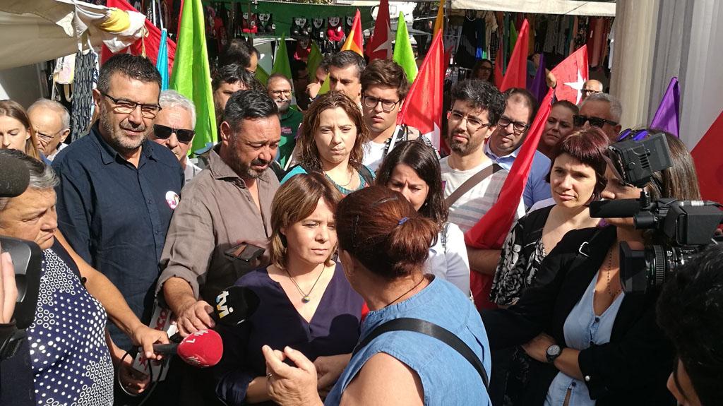 LEGISLATIVAS – Catarina Martins (BE) defende em Prado necessidade de actualizar salário mínimo nacional