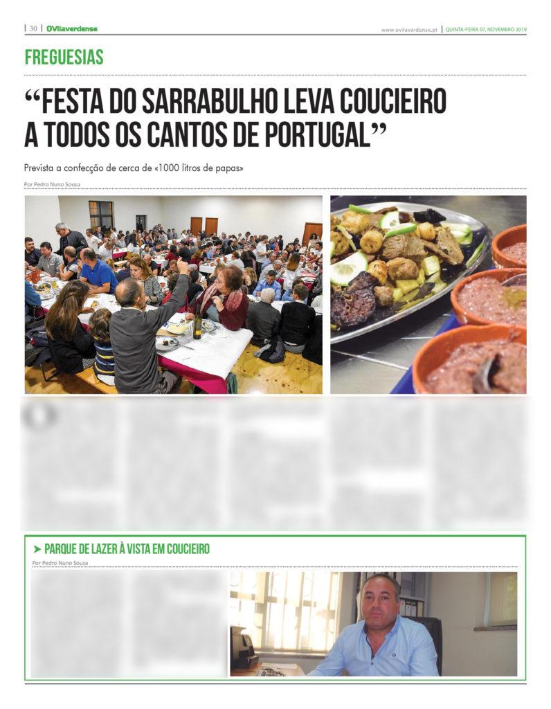 EDIÇÃO IMPRESSA – «Festa do Sarrabulho leva Coucieiro a todos os cantos de Portugal»
