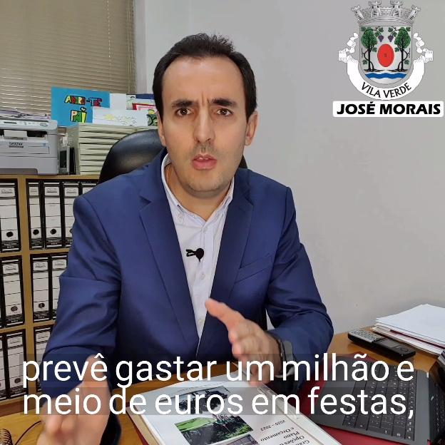 VILA VERDE – José Morais diz que «é um exagero a Câmara querer gastar um milhão e meio de euros em festas»