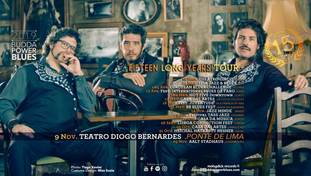 """CULTURA - """"Budda Power Blues"""" encerram digressão """"Fifteen Long Years"""" esta noite em Ponte de Lima"""