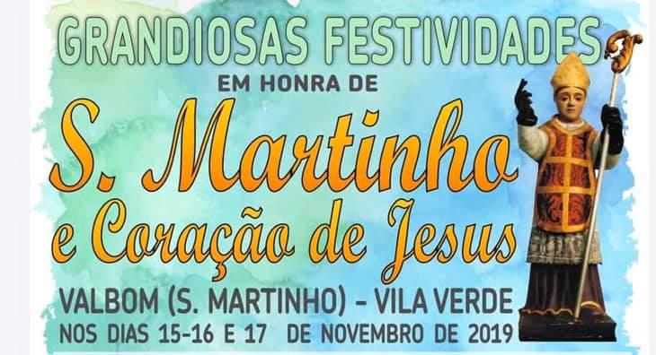 VILA VERDE - Festas em honra de São Martinho e Coração de Jesus em Valbom São Martinho este fim-de-semana