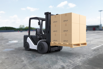 """featured image of the blog titled """"Top Factors to Consider When Buying Lift Trucks Online"""""""