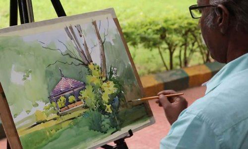 Watercolor Painting Demo by Artist Late.Sadhu Aliyur