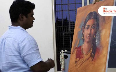 Portrait Painting Demo by Elayaraja – Time Lapse