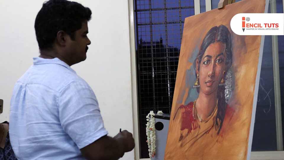 Learn Oil-painting-demo-by-Artist-Elayaraja